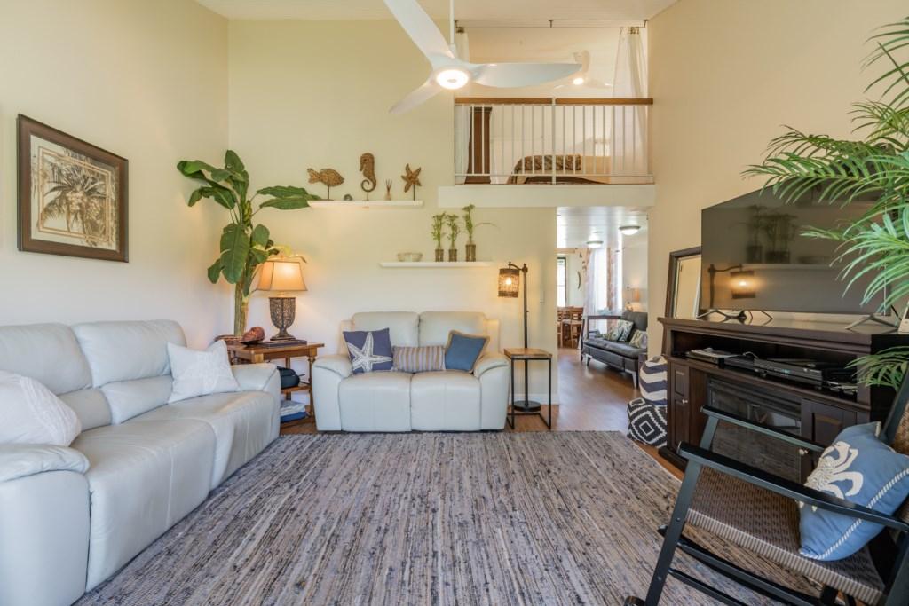 Living Room w/View of 1 Bedroom Loft
