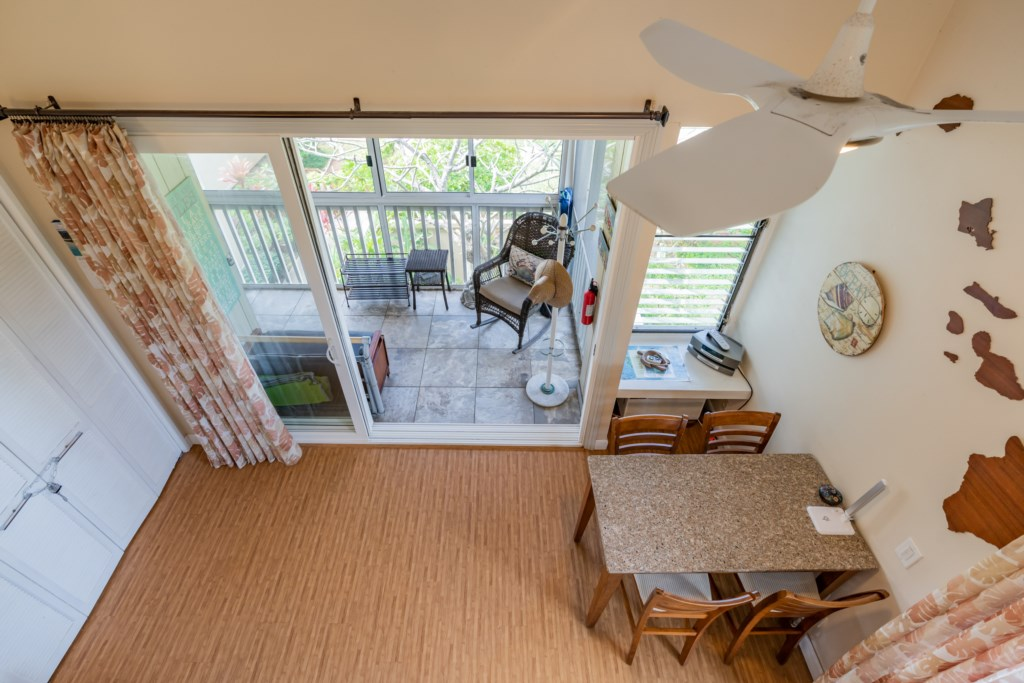 View of Entry Lanai/Dining from Loft