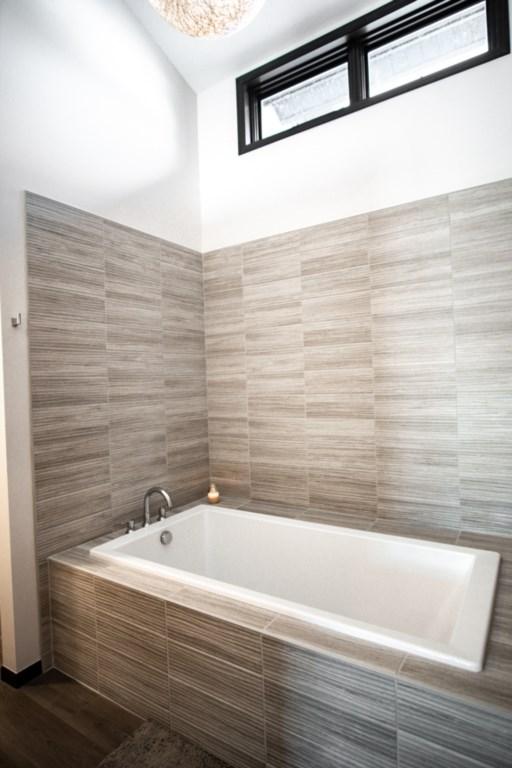 Soaking tub in master bath.