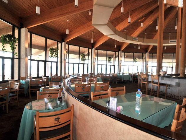 inside of Oceans restaurant - it is beautiful
