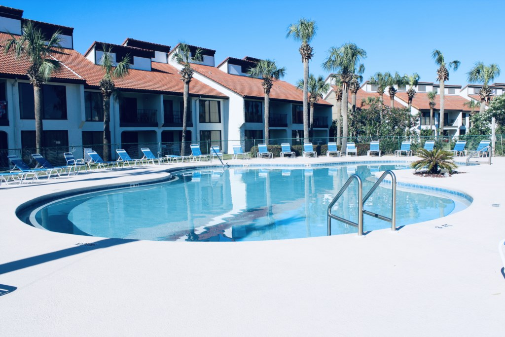 One of the pools located on the property - this one is right outside your unit.