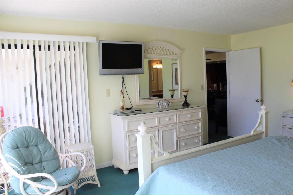 Bedroom 2 has a tv in it as well.