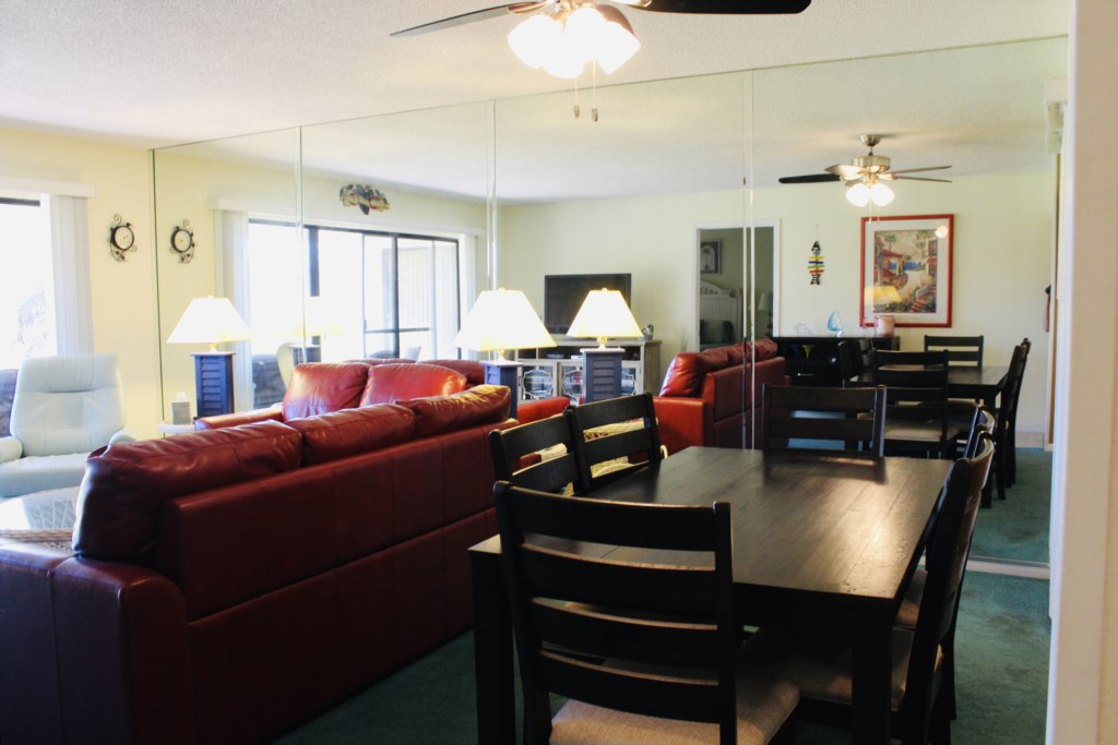 open Living Room & Dining Room offers plenty of space for all your guests.
