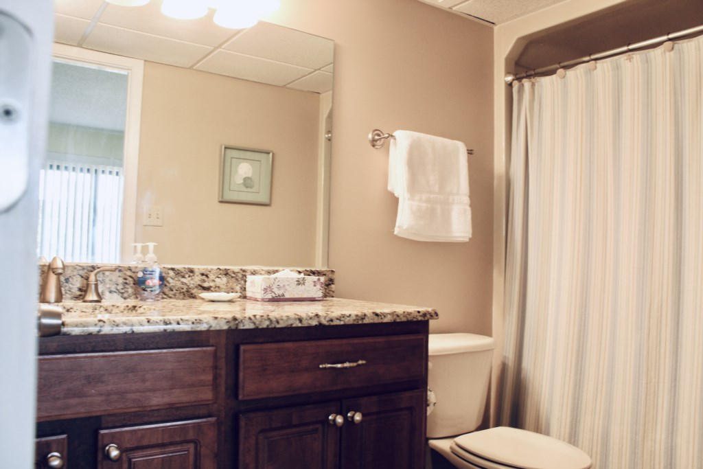 Full Bath attached to the master bedroom.