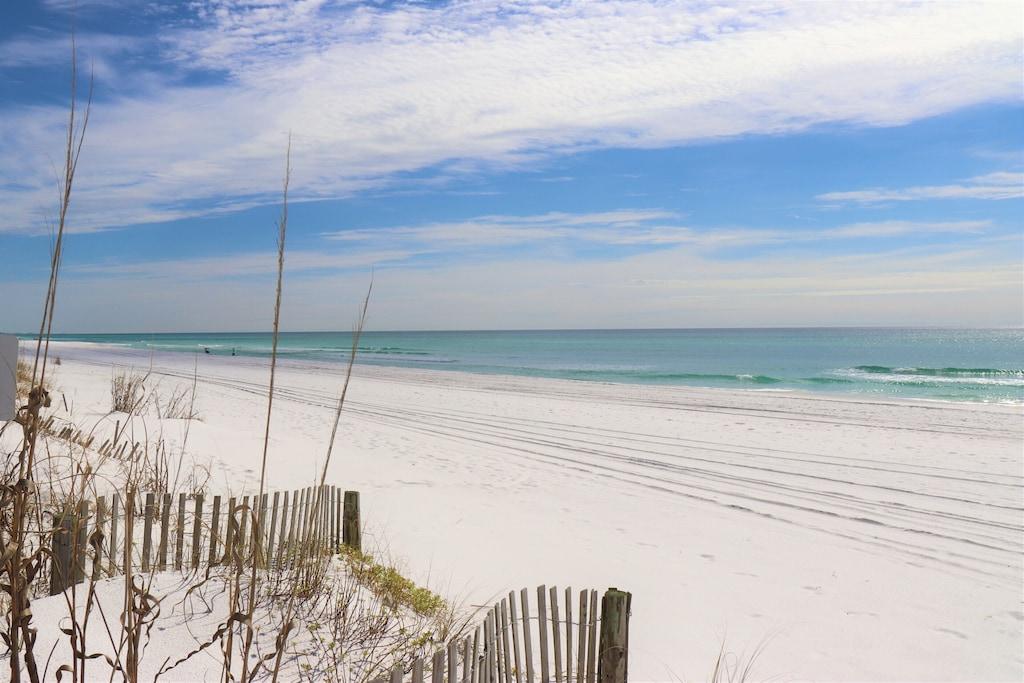 Pristine white sands of the Emerald Coast