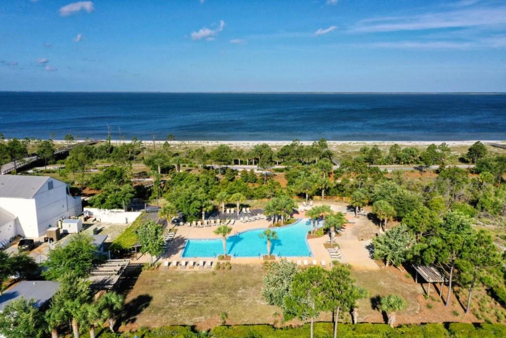 Miles of coastline to explore with resort amenities