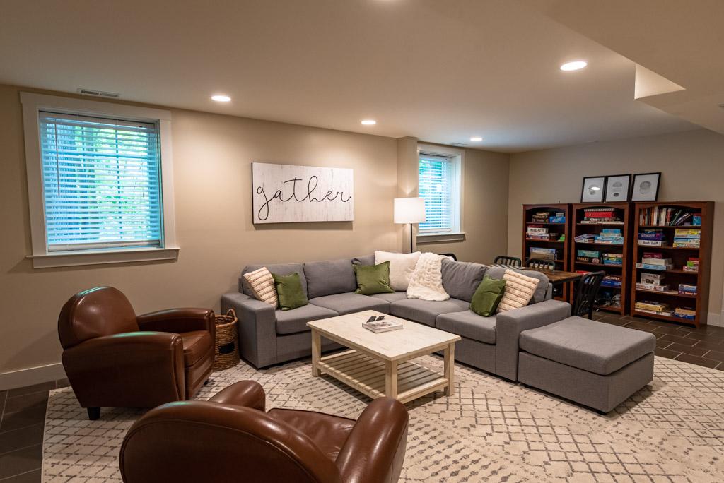Basement Sitting & TV Room