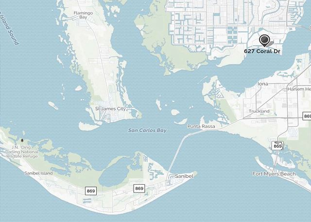 Centrally located and easy access to Sanibel, Fort Myers Beach, Fort Myers, etc.