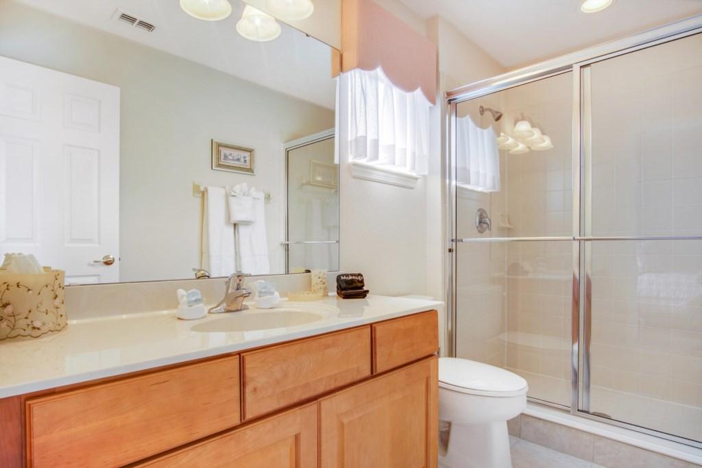 Bathroom 3 - En Suite to Bedroom 3: Single Sink, Toilet, Walk In Shower