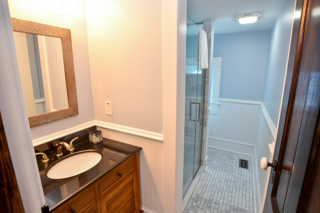 First floor full bath with shower.