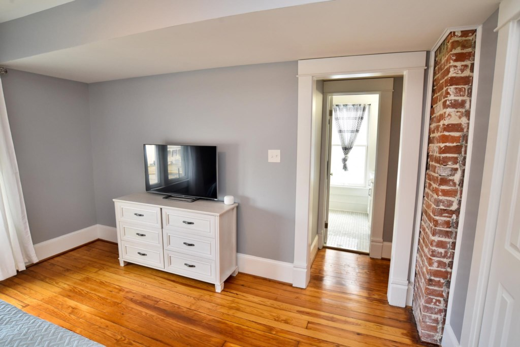 The main bedroom is completely private with access to the main full bathroom
