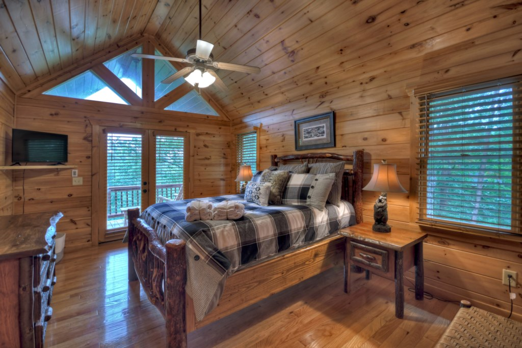 Queen Bedroom with wonderful views and deck access