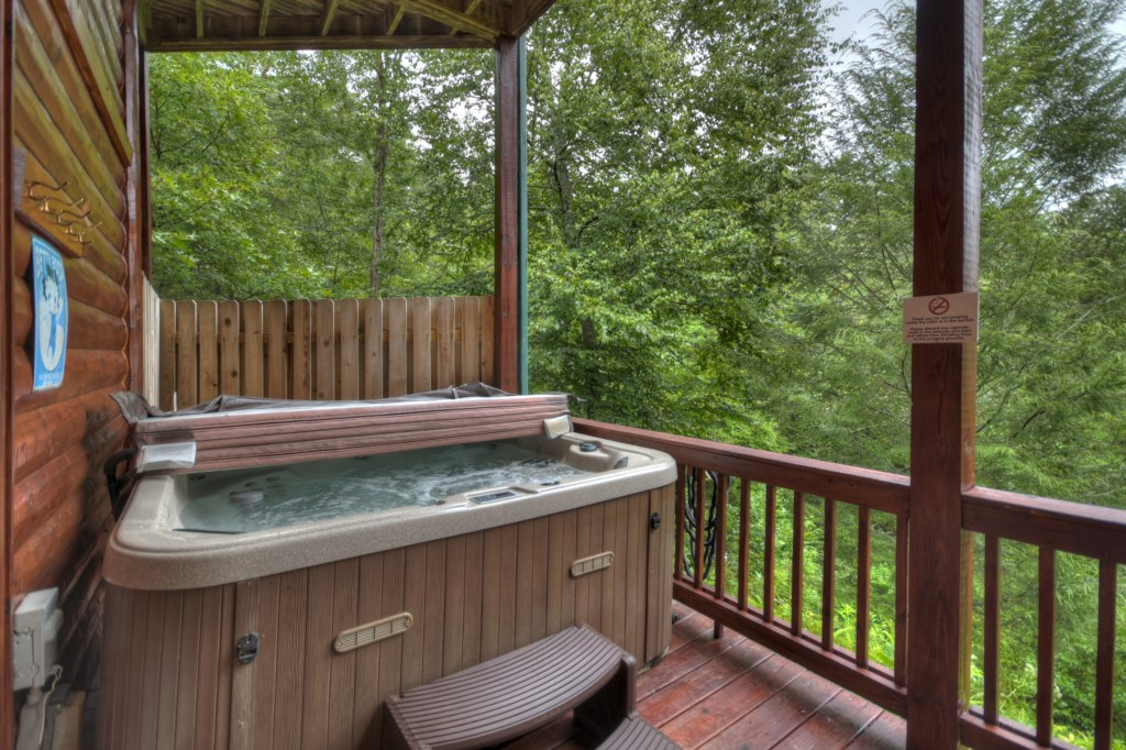 Take in the breathtaking views from your Hot Tub