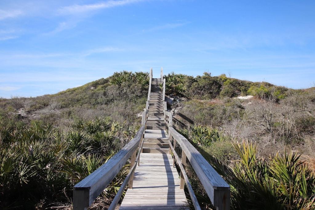 Traverse natural dunes, beautiful! A true old Florida feel.