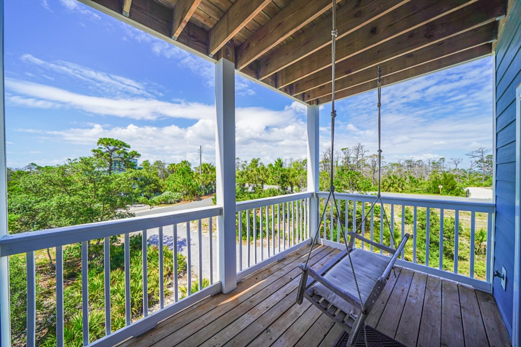 Enjoy Partial Bay Views from the Side Balcony