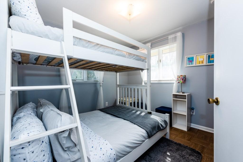 Bedroom #3 (Twin over Full Bunk)