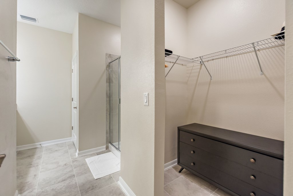 Master Suite, Walk in Closet and Large Walk in Shower