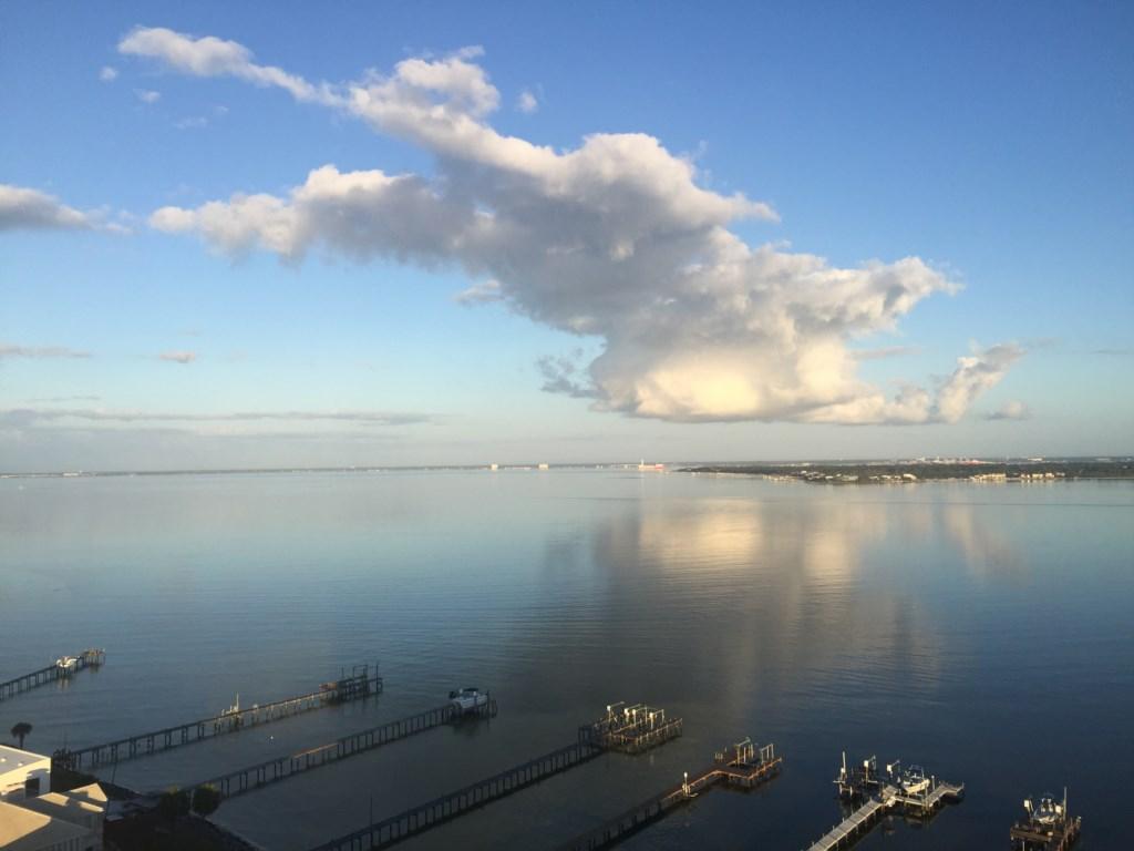 Beautiful clouds over Pensacola Bay