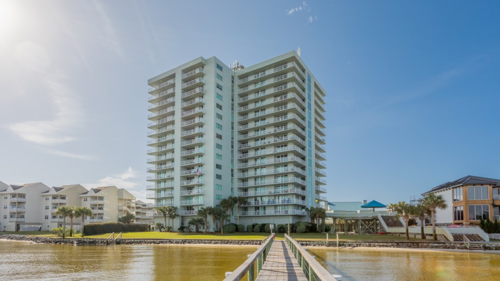 View of Tristan Towers from Pensacola Bay