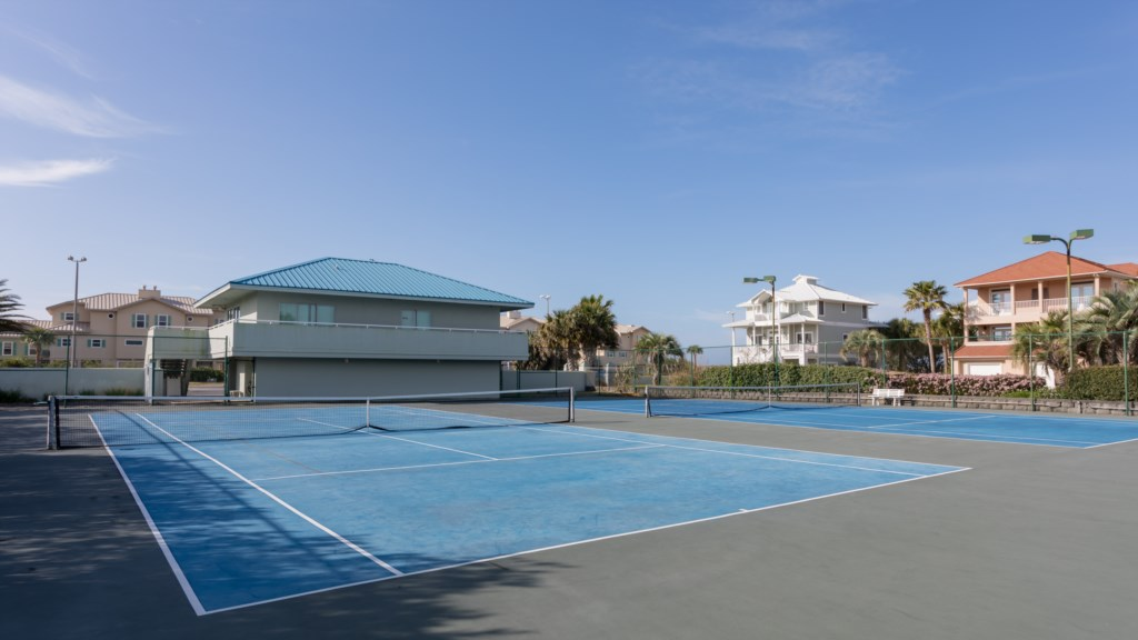 Tennis courts at Tristan Towers