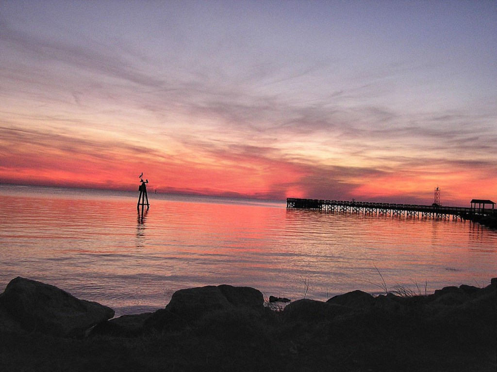 Cape Charles Sunset over Fishing Pier