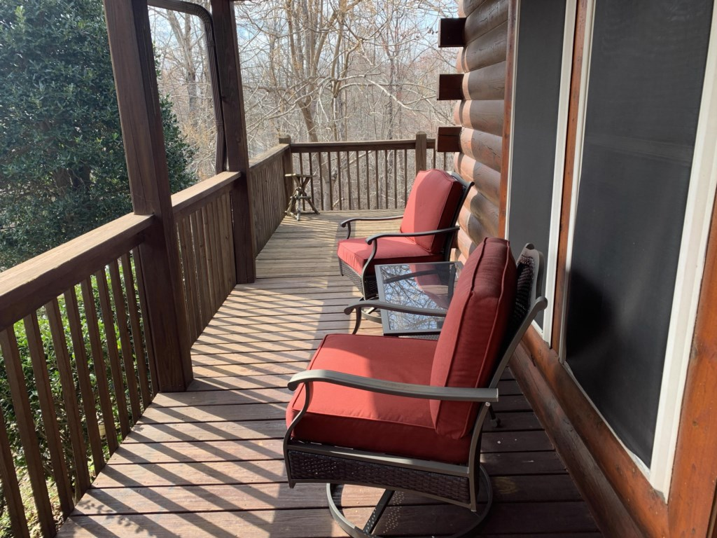 sit and relax on front deck