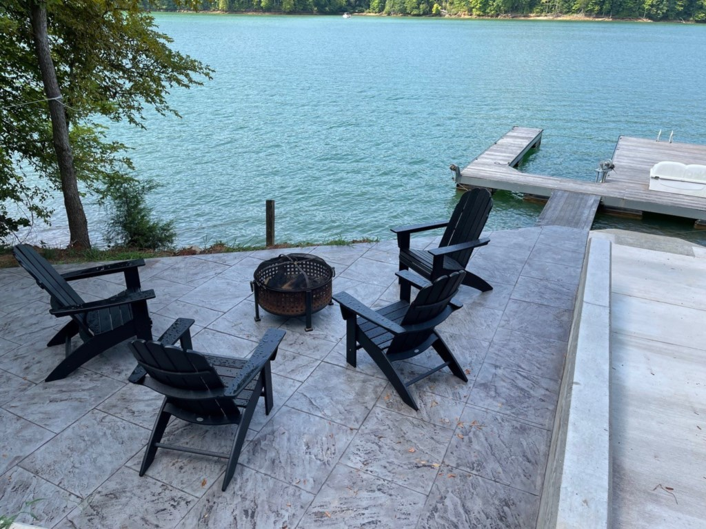 Fire pit at Dock