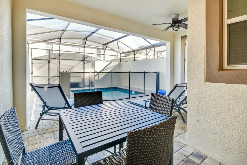 Private Pool with security fencing