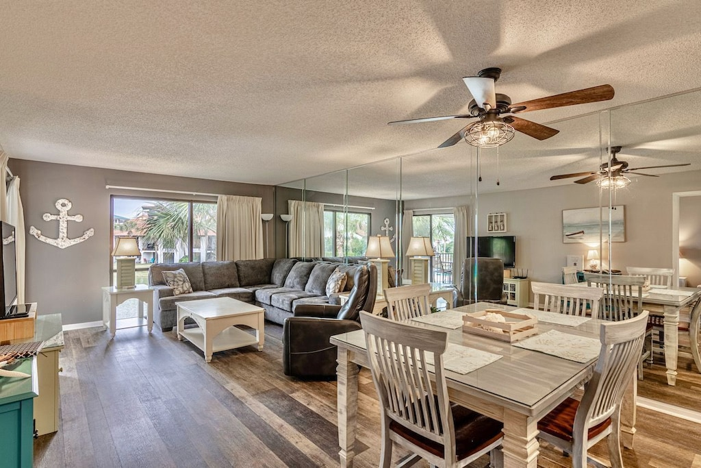 Large open space floor - dining, living room area