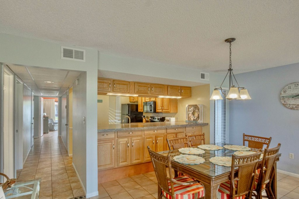 This unit is large, spacious and offers plenty of room for your vacation.