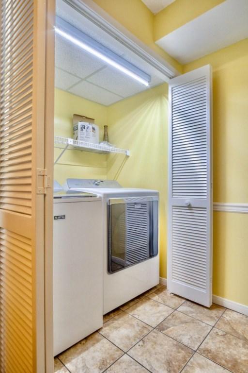 Full size washer & dryer inside the unit