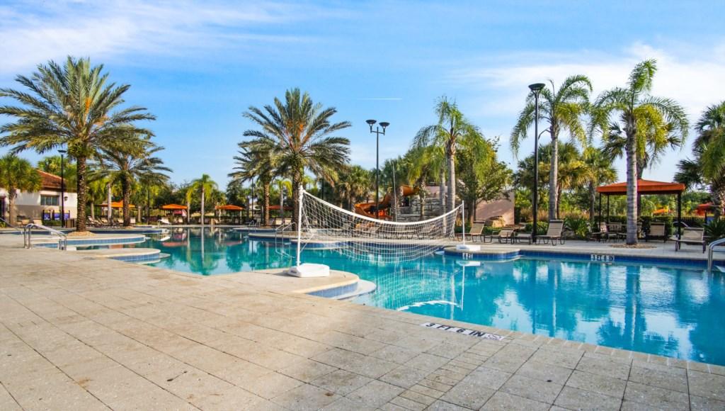Volleyball Net at Solterra Resort Pool
