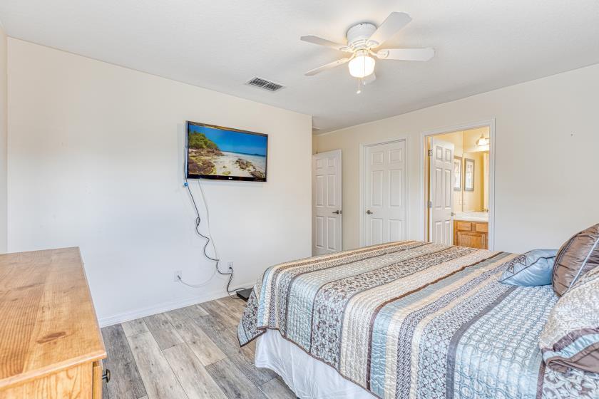 """Bedroom 2 - King Bedroom, Private 42"""" TV, Private En Suite Bathroom"""