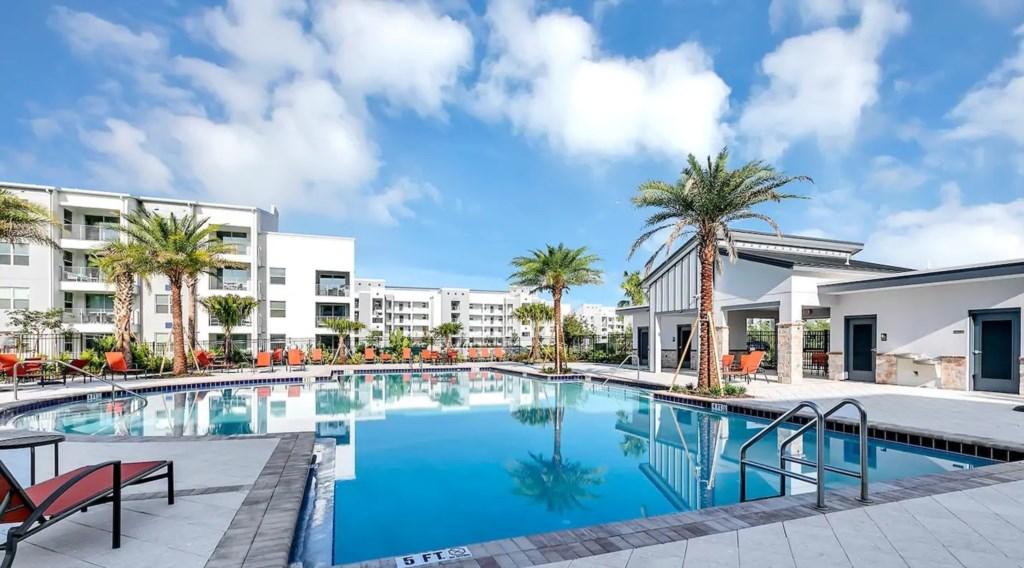 Second Resort Pool, a quieter option