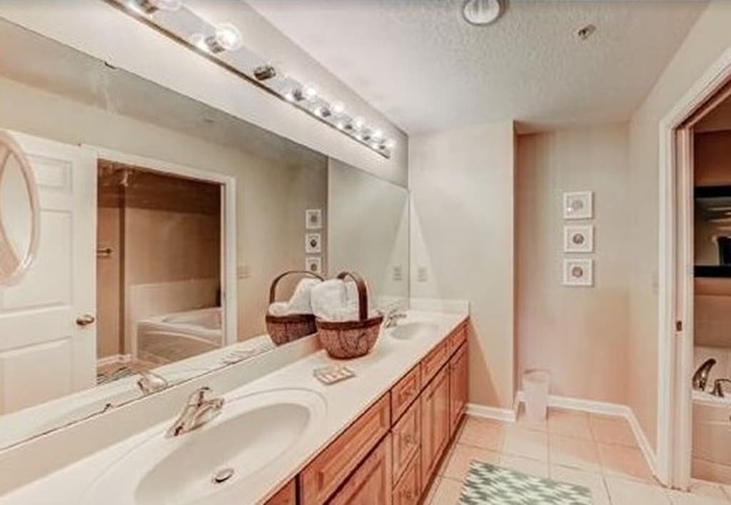 Double Vanity available in the Master Suite