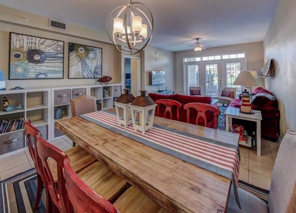 Large Dining Table perfect for family meals or game night