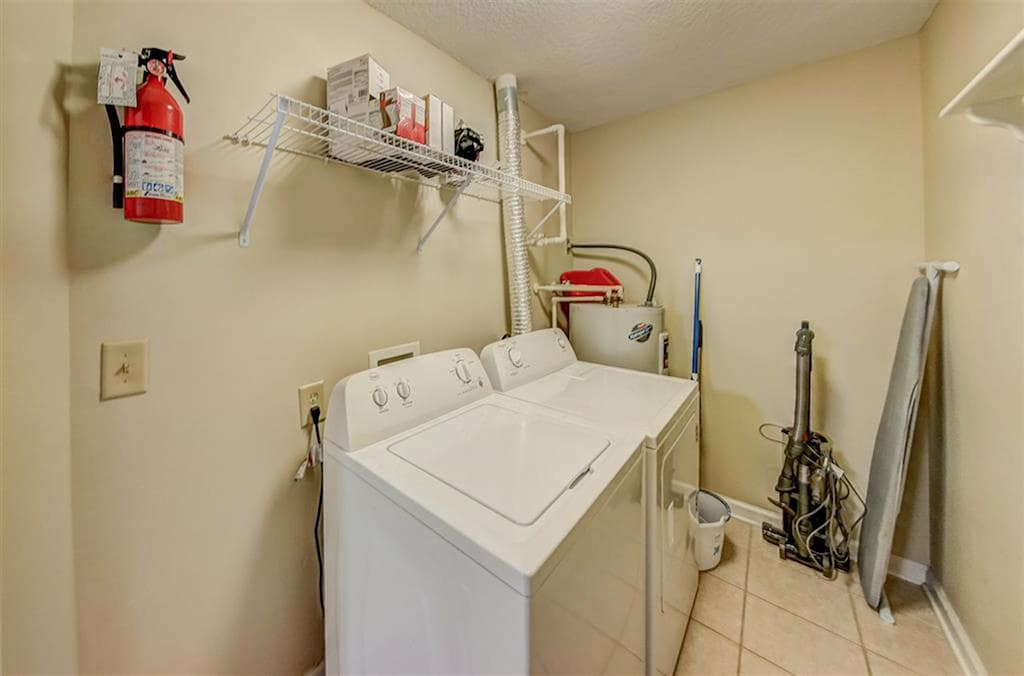 Full size laundry room in unit