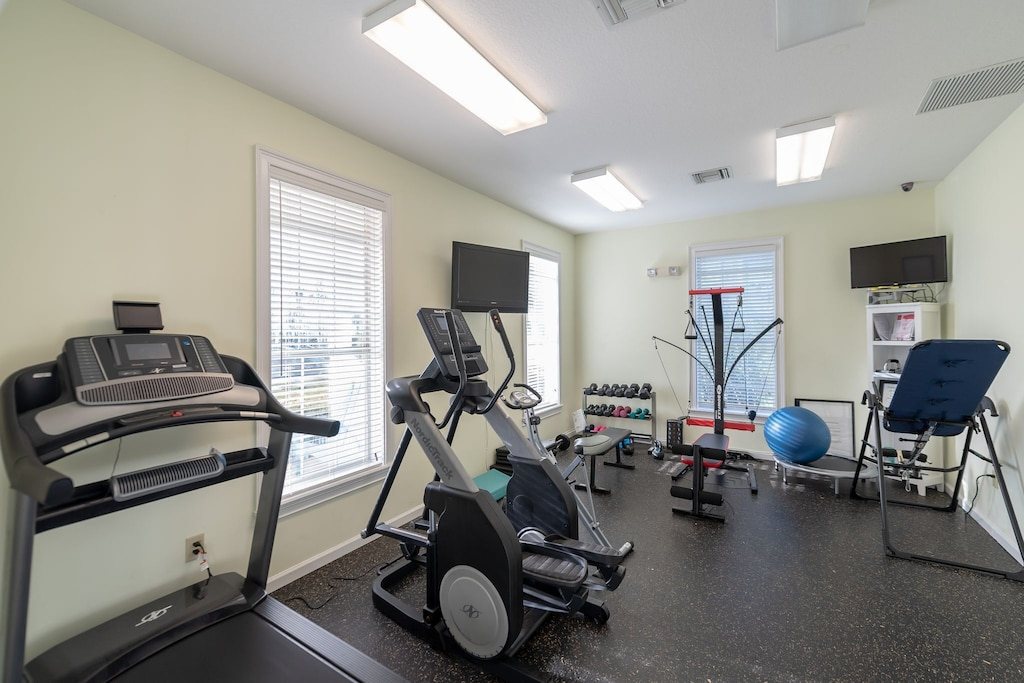 Workout room available to guests