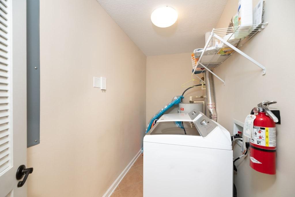 in condo laundry room