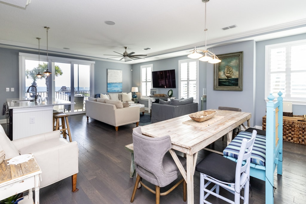 Open concept living areas with views of the Atlantic