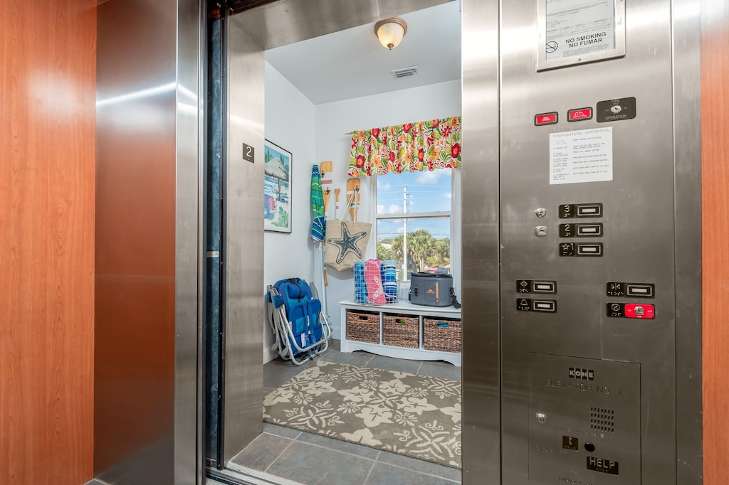 Elevator access with your own foyer