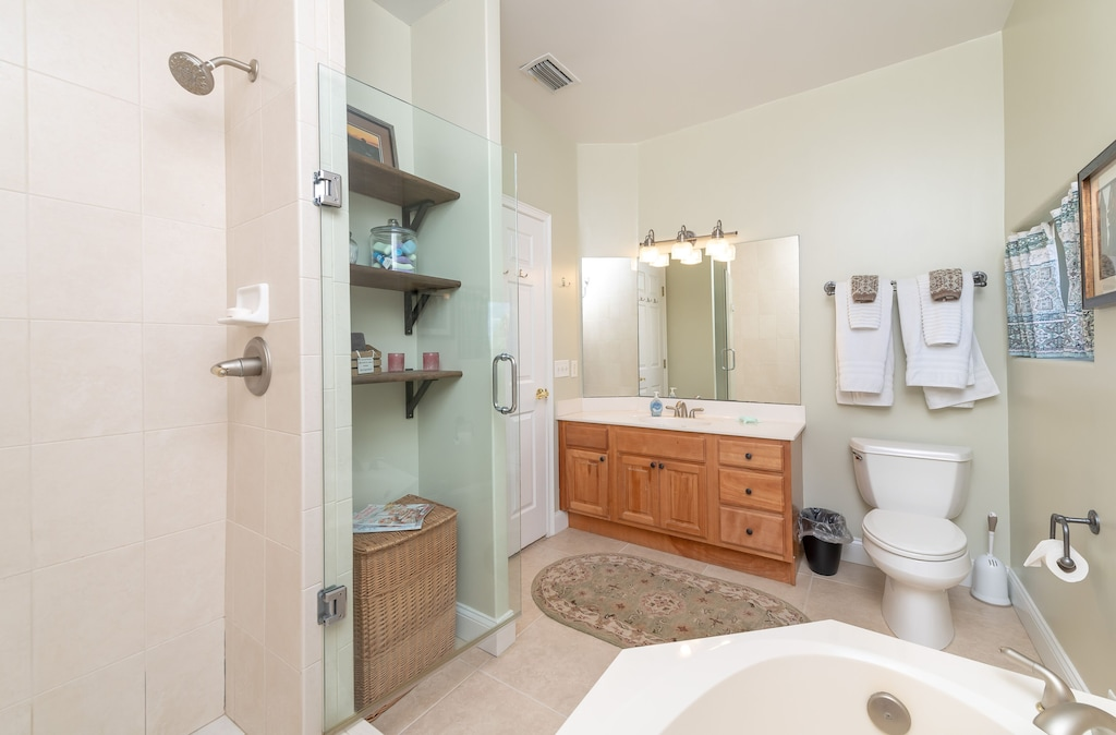 Master Bath is updated and spacious