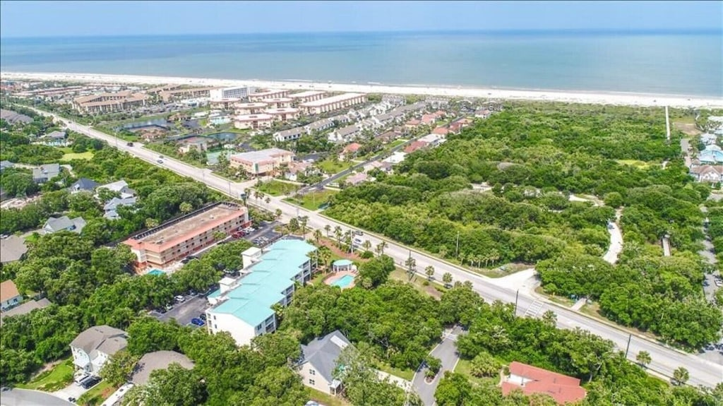 Ocean Reef has the blue roof, over view of the walk to the beach