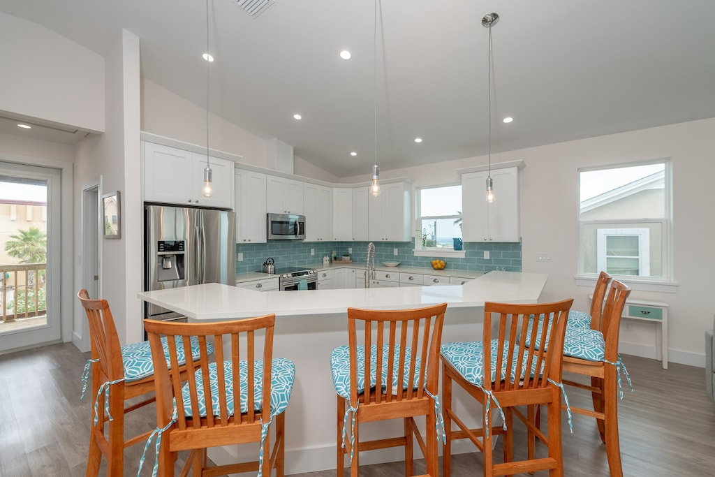 Cooking meals is a breeze in this well planned kitchen