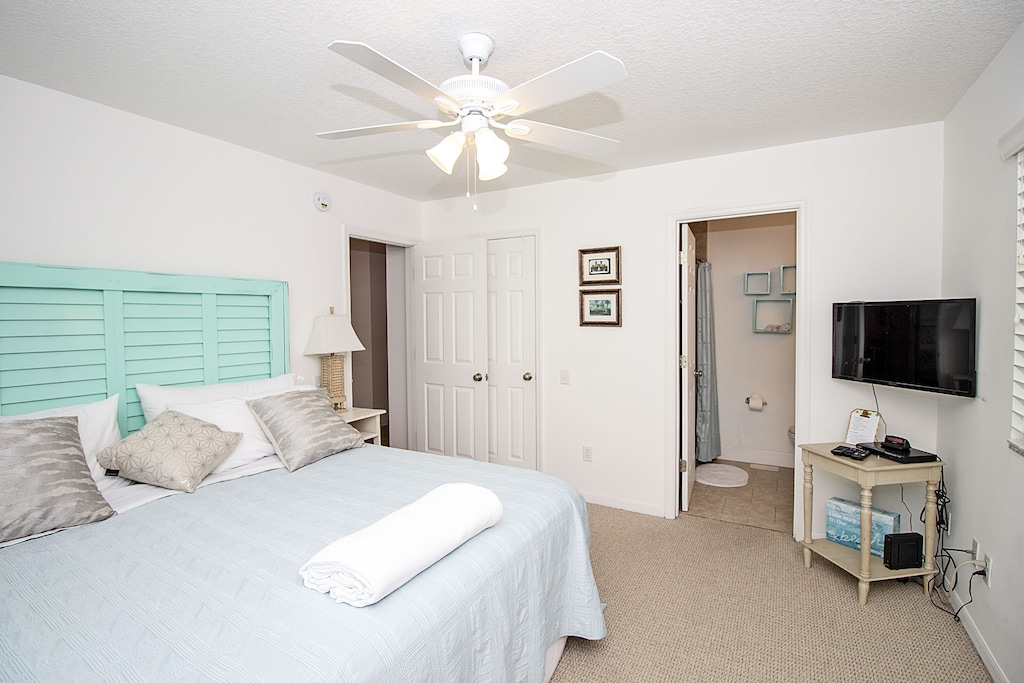 Master retreat features own full bathroom and Cable TV