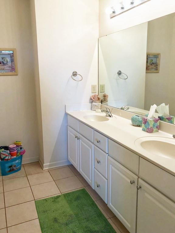 Master Bathroom features Dual Vanities