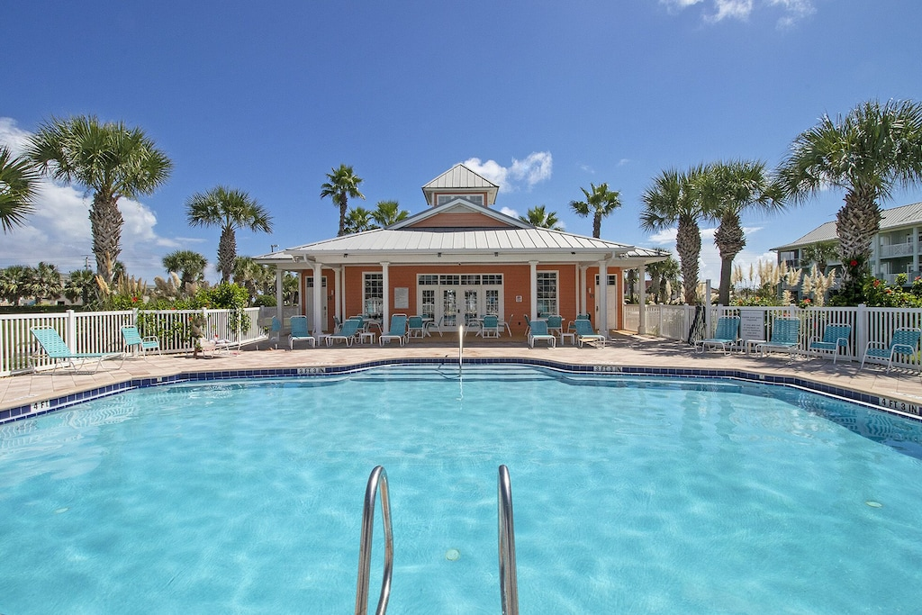 Pool with clubhouse