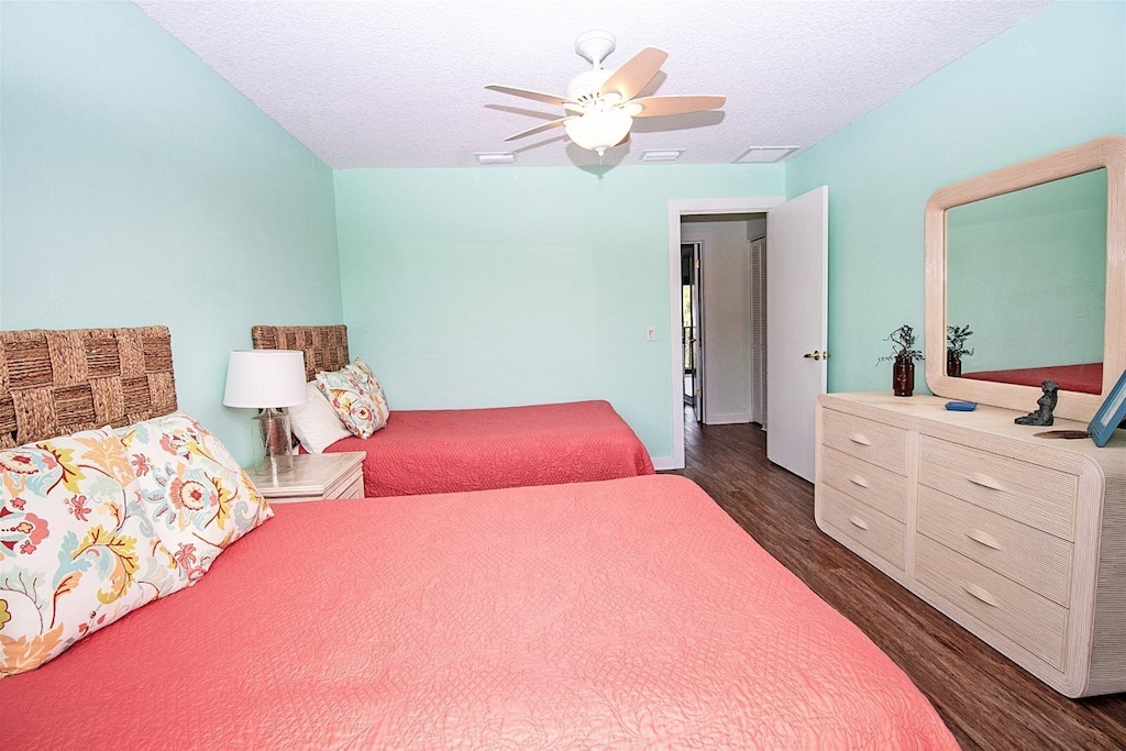 guest bedroom with comfortable linens