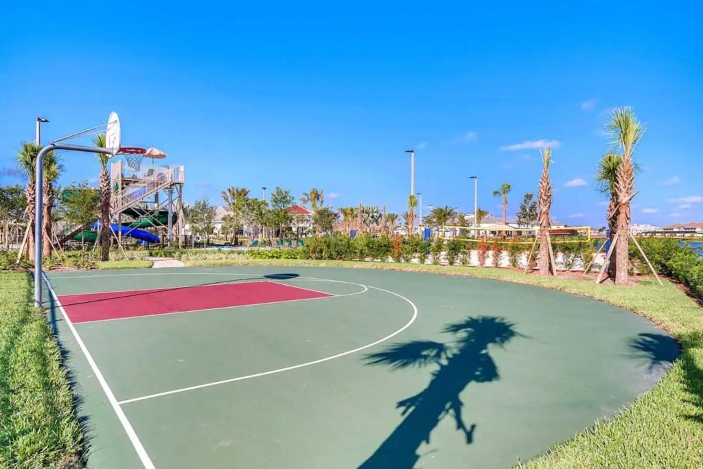 Half basketball court