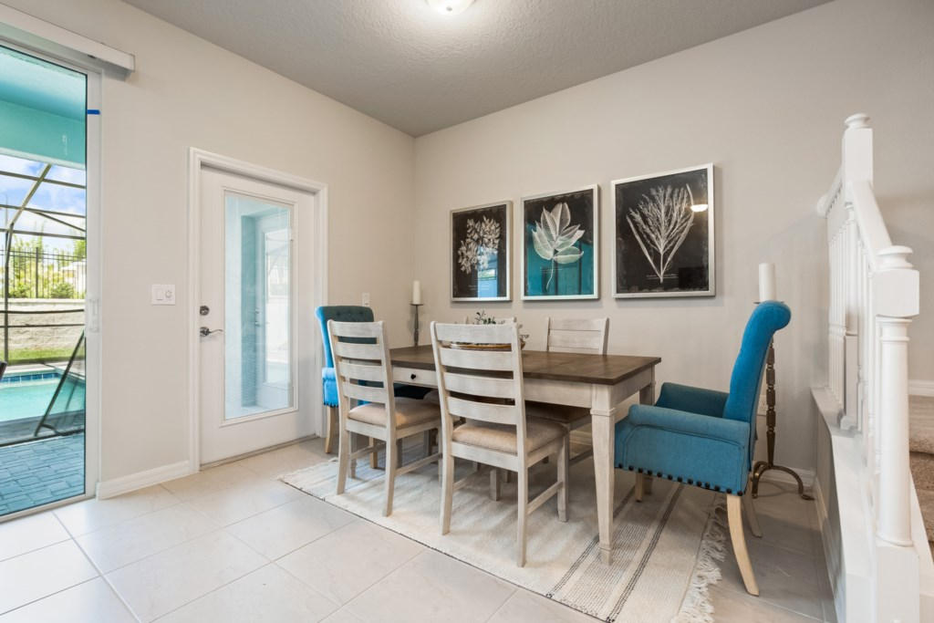 View 2 of Beautiful Dining Room Table Seating 6